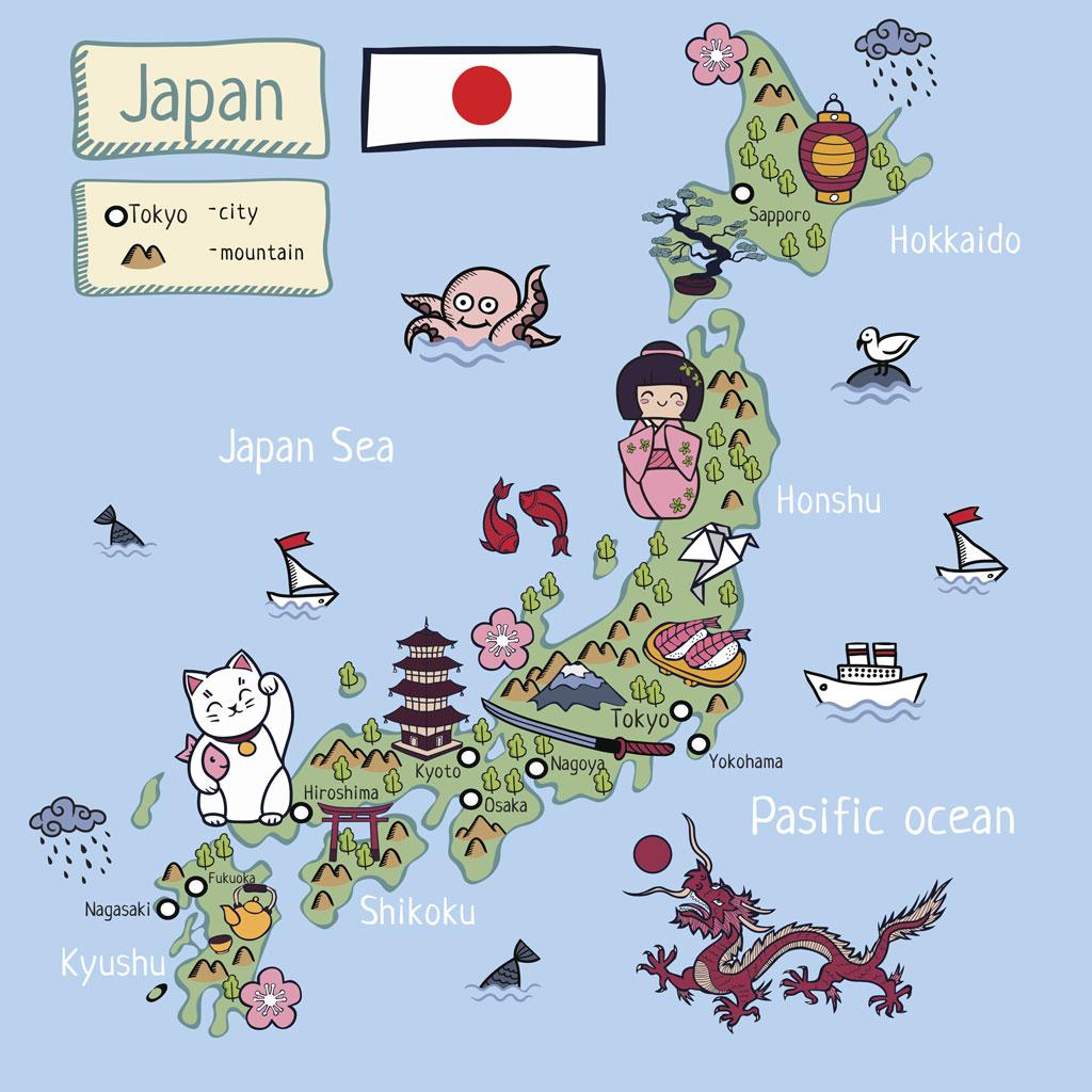 Japan fun map