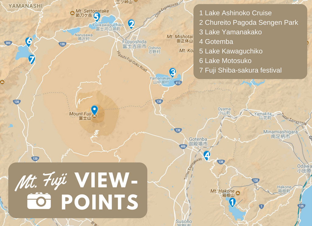 Japan Mt Fuji viewpoints