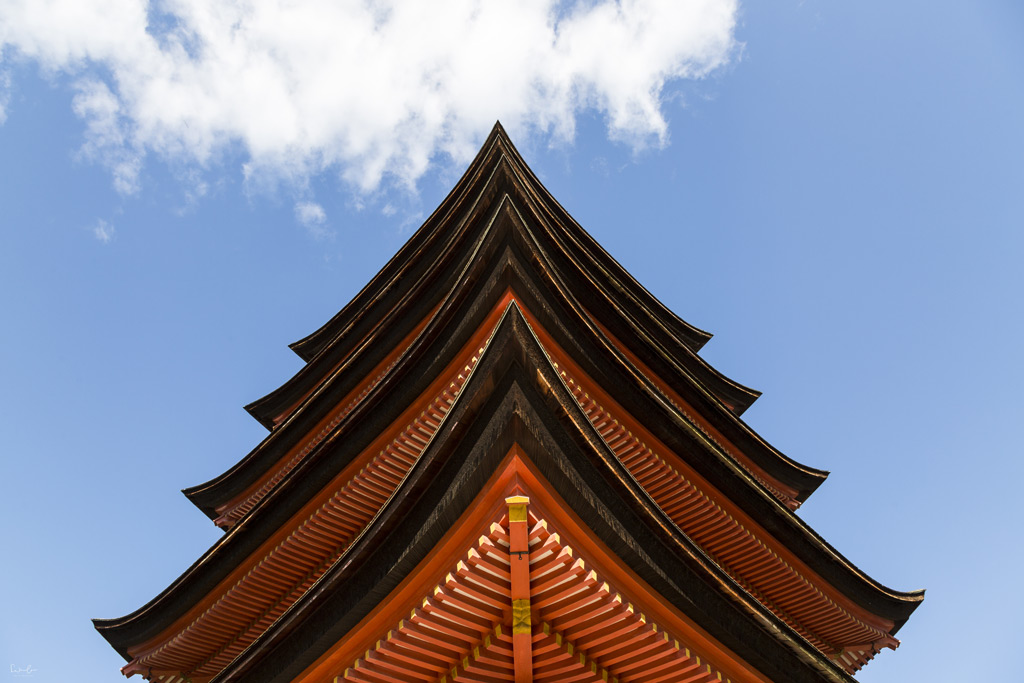 Japan Miyajima pagoda