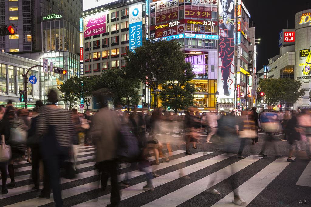 Shibuya Crossing Tokyo by night