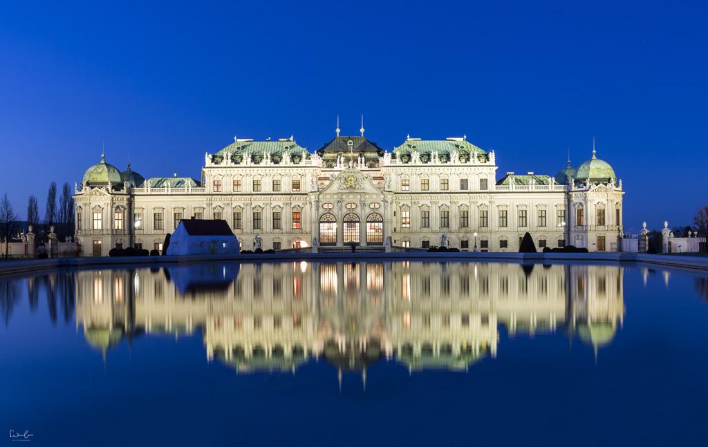 Blue Hour Belvedere Vienna