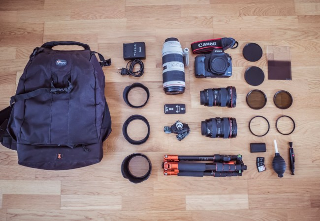 My travel photography gear and how I use each item