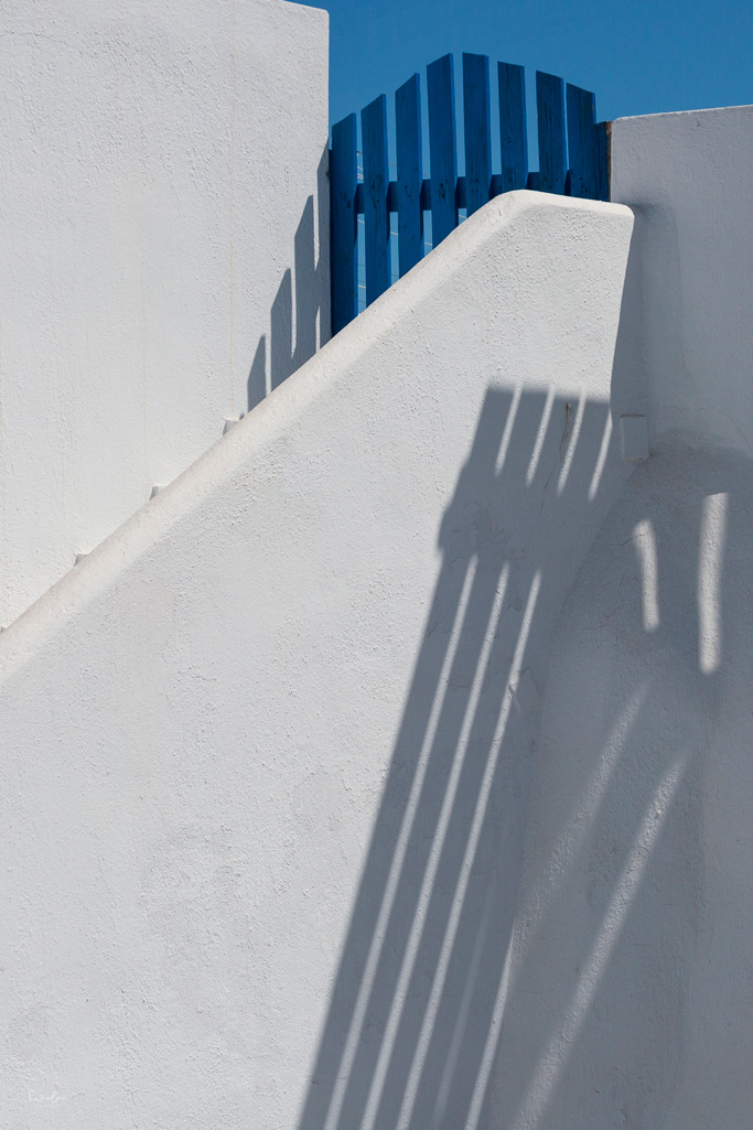 Santorini blue and white