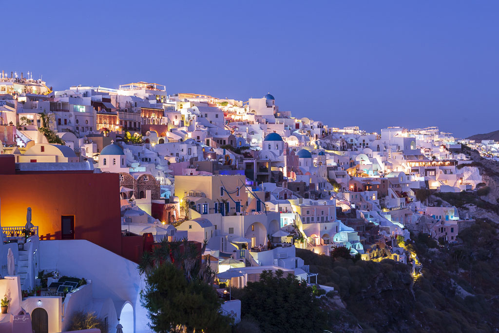 Blue hour Santorini Greece
