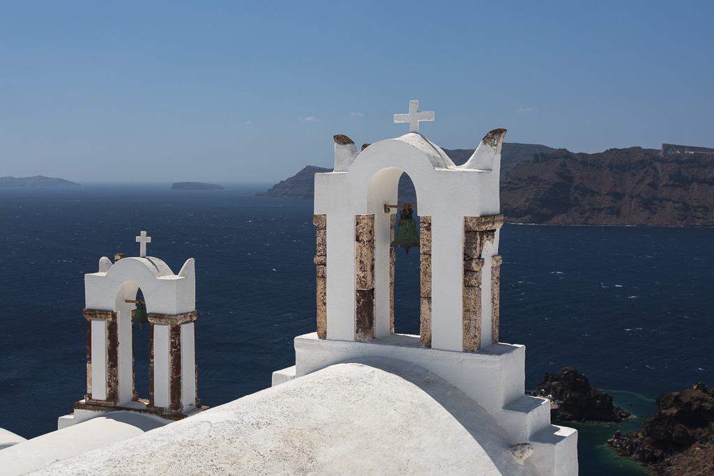 Santorini bell tower